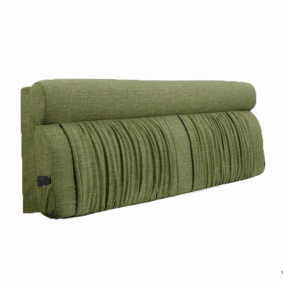 驚くばかりモットー借りているベッド枕 ベッドサイドソフトバッグラージバックベッドヘッドクッション付きベッドカバー枕枕ダブル取り外し可能なベッドヘッドクッションリネン素材スポンジフィラーサイズ150センチメートル/ 180センチメートル/ 200センチメートル 写真ベッド枕首まくら (色 : H h, サイズ さいず : 180cm)