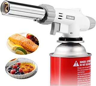 Butane Blow Torch, Kitchen Chef Culinary Torch, Adjustable Flame Cooking Crème Brulee Torch Lighter