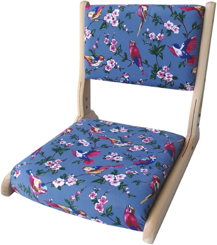 Denzihx Meditation Tatami mats Floor Chair,Folding Natural Materials [Japanese-Style] Bamboo Floating Window Chair-F