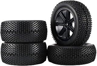 sdfghzsedfgsdfg 2 par 85 mm hjulnavfälgar och gummidäck för 1:10 Offroad RC bil buggy däck reservdelar tillbehör komponent
