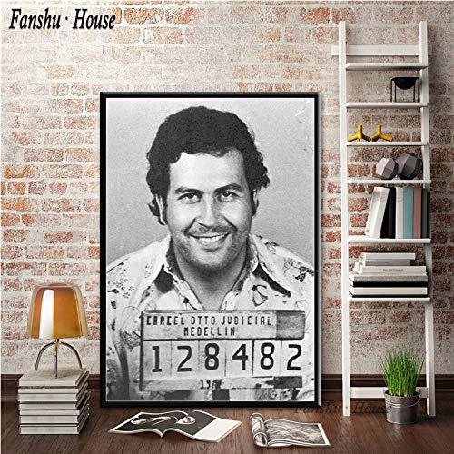 adgkitb canvas Plakate und Drucke Pablo Escobar Charakter Legende Poster dekorative Leinwand Malerei Wandkunst Bild für Wohnzimmer Home Decor 60x75cm