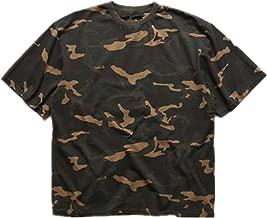 Q&Y Men's Oversized Camo Loose Hip Hop Swag Streetwear T Shirts