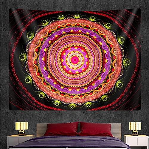 PPOU Tapiz de Mandala Indio, tapices de Pared, brujería, decoración de Estilo Bohemio, Manta Hippie, Tela Colgante A6, 150x200cm
