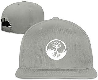 CEDAEI Life Tree Flat Bill Snapback Adjustable Hiking Hat Black