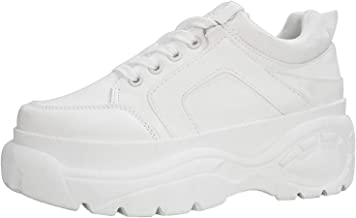 Best chunky white platform sneakers Reviews