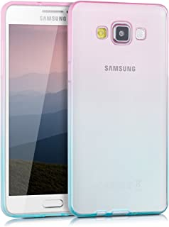 kwmobile Crystal Case for Samsung Galaxy A5 (2015) - Soft Flexible TPU Silicone Protective Cover - Transparent Pink 35745.01