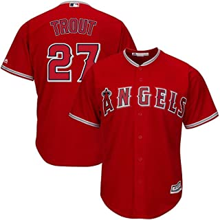 Outerstuff Mike Trout Los Angeles Angels MLB Toddler Red Alternate Cool Base Replica Jersey
