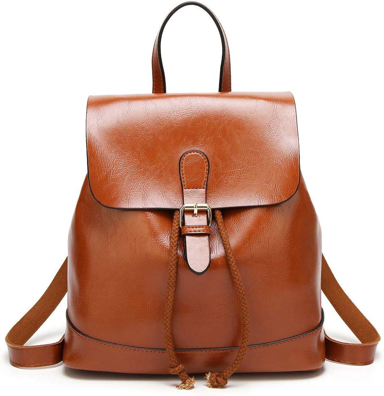 QWKZH Mode Rucksack weibliche einfache wasserdichte Anti-Diebstahl-Gurt Rucksack Reisetasche