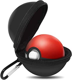Portable Carrying Case for Nintendo Switch Poke Ball Plus Controller, Accessory Bag for Pokémon Lets Go Pikachu Eevee Game for Nintendo Switch Black