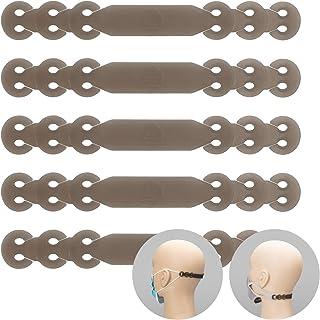 くびにかけるくん シリコン素材/マスク補助バンド/耳が痛くならないグッズ/マスク用フックベルト/マスクストラップ (グレー)