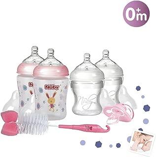 Nuby NTVP34 330 ml Pack 6 biberones de PP color rosa