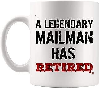 Retirement Party Gift - Retired Mug Retiring Presents Jokes Mug - Funny Gift for Men Women Coffee Cup Retired Mailman Postman Mail Carrier Retirement   Best Friend Birthday Gift