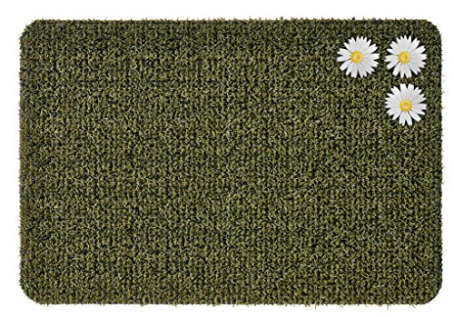 Clean Machine 10376624 Daisy Astroturf Doormat, Urban Green, 23.5 Inch x 35.5 Inch