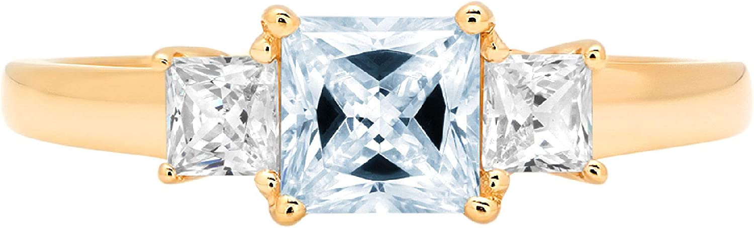 0.89ct Princess cut 3 25% OFF stone Solitaire Sky Accent Bl with Natural outlet