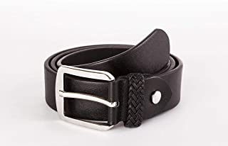 Heruk Mens Belt, Genuine Top Bulliant Leather With Classic Buckle, Two Layer Leather Belt