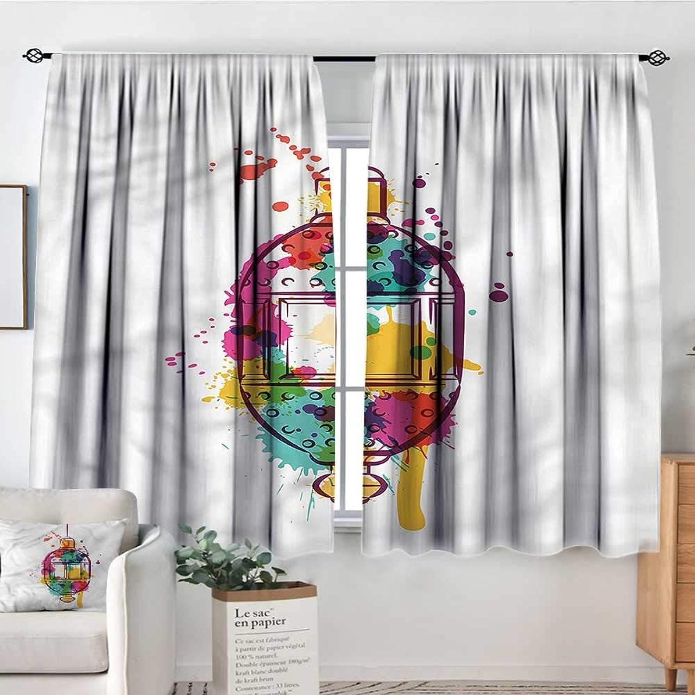 Sanring Lantern,Personized Curtains Artistic color Splashes 42 X63  Girs Decorative Theme Decor Curtains