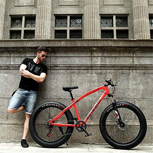 WYX Montagna della Bici della Bicicletta Ad Alta Acciaio al Carbonio 27 velocità 24/26 in BMX MTB Neve Fat Bike Beach Biciclette Shock Sospensione,F,26'× 27speed