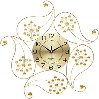 hsj WYQmm Horloge Murale décoration Murale rétro en Fer forgé matériau personnalité muette Horloge à Quartz Horloge Murale...