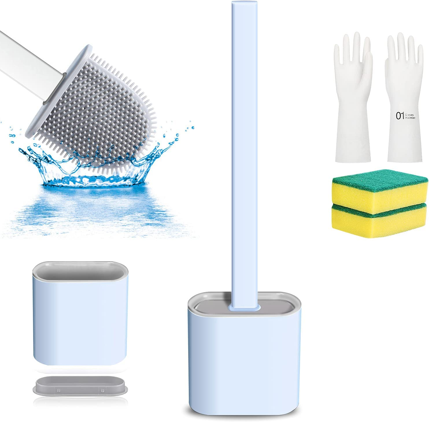 Outlet ☆ New product!! Free Shipping Toilet Brush Silicone Bowl Bathroom Holder and for