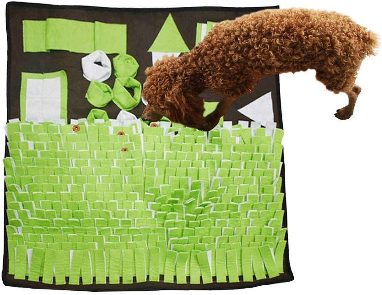 BrawljRORty Pet Food Bowl, Pet Foraging Skill Training Blanket Dog Feeding Mat Sniffing Snuff Pad Cushion