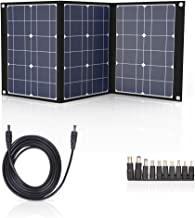 TISHI HERY 50W Portable Solar Panel 12V Monocrystalline Foldable Solar Charger Kit with MC4 Connector and 3 Output Ports for Solar Generator, RV, Boat, Camping, Outdoors