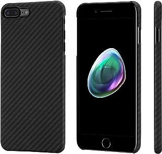「PITAKA」MagEZ Case iPhone8plus / iPhone7plus 対応 ケース アラミド繊維 超薄(0.65mm) 超軽量 超頑丈 黒/グレー ツイル柄