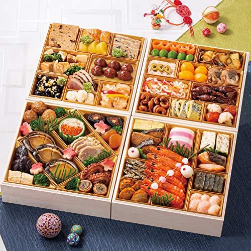 富山 千里山荘 おせち料理 2021 与段重 53品 盛り付け済み 冷蔵おせち 5人前〜6人前 お届け日:12月31日