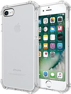REY Funda Anti-Shock Gel Transparente para iPhone 7 / iPhone 8 / iPhone SE 2020, Ultra Fina 0,33mm, Esquinas Reforzadas, Silicona TPU de Alta Resistencia y Flexibilidad, Anti Golpes