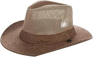 YSNRH Hat Men Straw Cowboy Hat Jazz Sun Cap Hat Beach Hat Fishing Hat with Outdoor Caps for Walking Hat Wide Brim Hat Bucket Mesh Hat 54-59cm(Storage Bag) Camping,Outdoor,Hiking,Summer