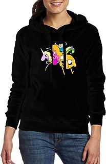 Avis N Womens Adventure Time Casual Pocket Hoodies Sweater Black