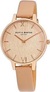 Olivia Burton Woven Quartz Movement Gold Dial Ladies Watch