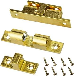 Solid Brass Cabinet Door Closet Ball Tension Catch Latch,2.36-Inch x 0.47-Inch Cabinet Door Lock Furniture Door Clasp Suitable for Most Cabinets(2 Pcs)