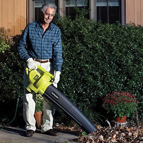 Sun Joe SBJ604E Blower Joe Electric Blower, Vacuum and Leaf Shredder, Lime