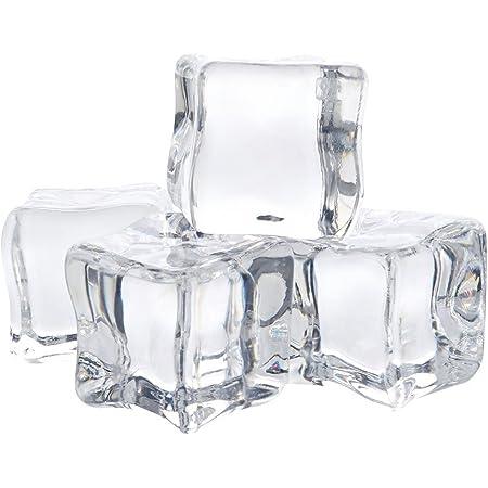 Fsstud 12 Stk Klar Deko Acryl Eiswürfel Kunststoff Ice Transparent Für Whiskey Fotografieren Props Deko 3 Cm Küche Haushalt