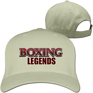 Men's Boxing Legends Adjustable Flexfit Fitted Hat Baseball Caps White
