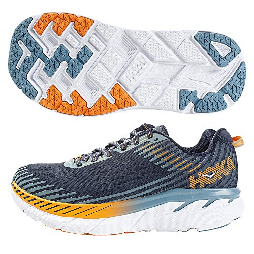 Price comparison product image HOKA ONE ONE Men's Clifton 5 Running Shoe (10.5 EE US,  Black Iris / Storm Blue)