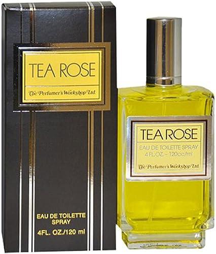 Tea Rose by Perfumer's Workshop for Women - 4 Ounce EDT Spray