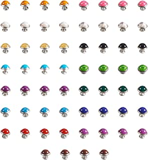 nbeads Une boîte 120 Pcs Leathercraft Turquoise Rapid Rivets Clous Boutons Sac à Main Sacs Chaussures en Cuir Craft répara...