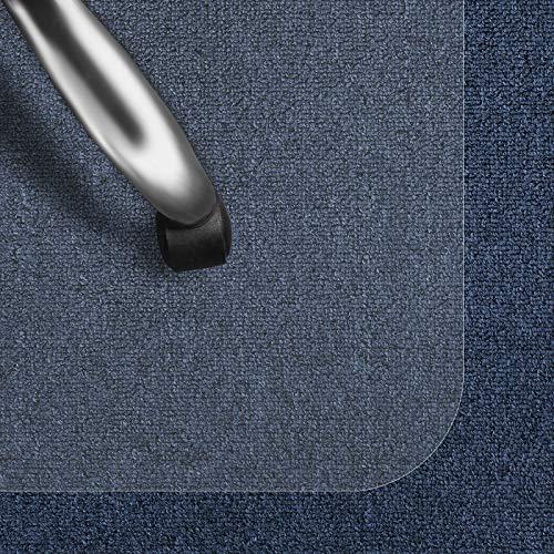 Bodenschutzmatte Transparent für Kurzflor-Teppich | Schreibtischstuhl Unterlage für Büro und Wohnen | Bodenmatten wahlweise für Teppich/Hartböden (Kurzflor-Teppich/Nadelfilz 75x120 cm)