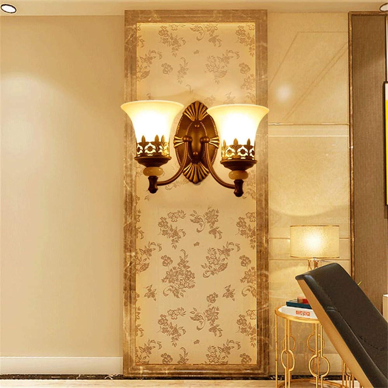 Modern LED Wandleuchte Amerikanische LED wohnzimmer TV wandleuchte kreative hotelzimmer glas wandleuchte nacht flur flur wandleuchte Coffee Shop,Büro,Schlafzimmer,Hotel,Vintage Retro Café Loft Bar.