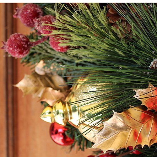 The Wreath Depot Queensbury Decorated Christmas Wreath, 22 Inch