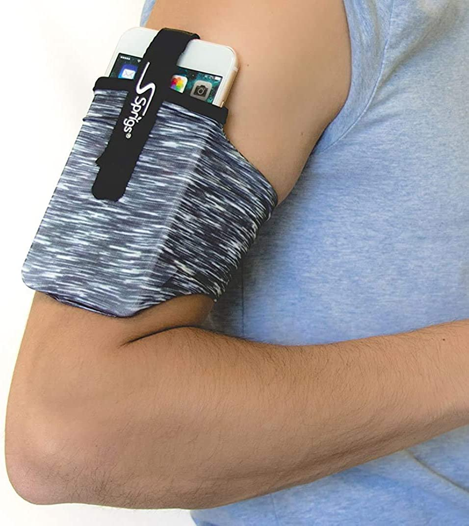 Sprigs Phone Armband Sleeve for iPhone x/8/7/6 Plus, Galaxy S7/S6, Google Pixel XL. The Lightest & Most Comfortable Running Armband, Stretches to Fit All Phones with Case for Women & Men
