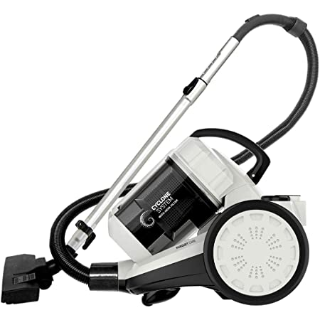 Inalsa Zeus 1400W Bagless Cylinder Vacuum Cleaner with HEPA Filter, Blower Function, Powerful Suction & High Energy Efficiency| 1.5 L Dust Box Capacity| 2 Years Warranty, (White/Grey)
