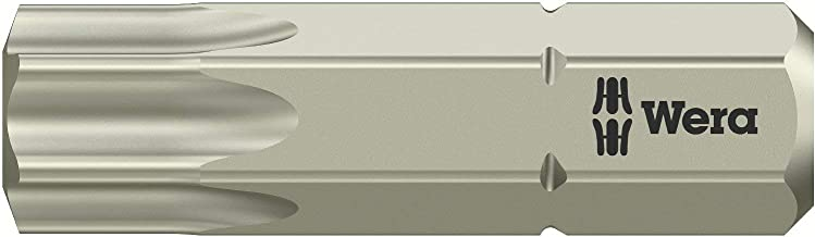 Wera 3867-1 Ts Sb Stainless Steel Insert Bit, Torx #40 (Pack Of 5)