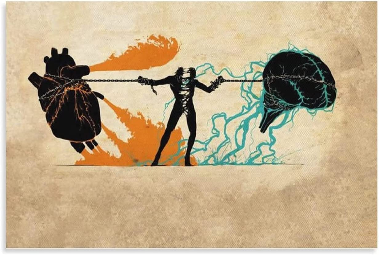 The Game Between Brain and Canvas Poster Max Spasm price 48% OFF Heart Pictur Art