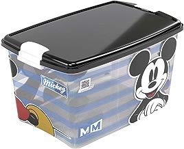 Caixa com Trava Mickey Plasútil Preto 46 L