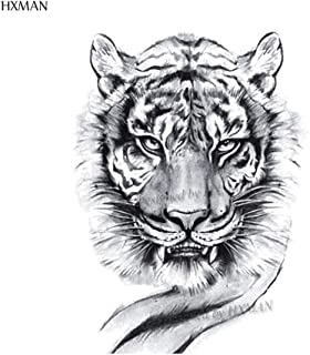 Tiger Temporary Watercolor Tattoo Sticker Waterproof Women Fashion Body Art Arm Tattoos 9.8X6cm Kids Hand Tatoo A-044 (Color : A 400)