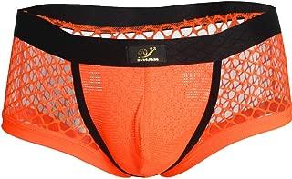 MSemis Men's Mesh Fishnet Sheer Underwear Pouch Bikini Briefs Thong Swimwear