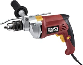 1/2 inch Professional Variable Speed Reversible Hammer Drill Dual Mode for Steel, Concrete, Wood