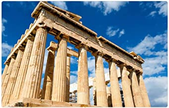 Indoor Floor Rug/Mat (23.6 x 15.7 Inch) - Greece Palace Sky Parthenon Iconic Ruins Building
